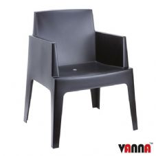 Vanna Beach Arm Chair - Black